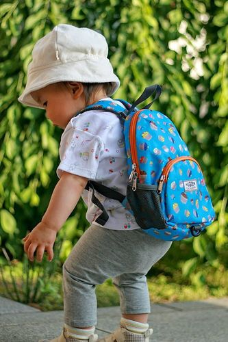 Hugger Plecaczek dla dziewczynki Hugger, Totty Tripper Small, wiek 1-3 lat, wzór Cupcakes