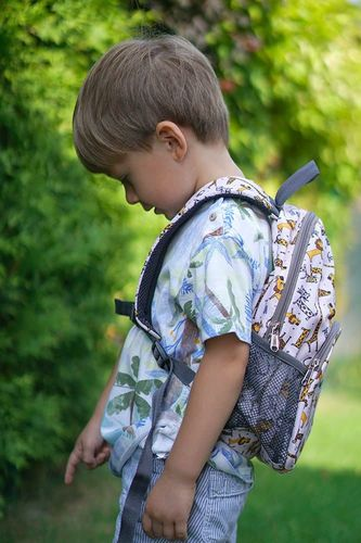 Hugger Plecak dla dzieci Hugger, Totty Tripper Medium, wiek 4-8 lat, wzór Safari