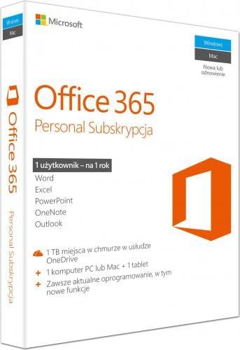 Microsoft Office 365 Personal PL 32/64-bit Subskrypcja 1 rok (QQ2-00535)
