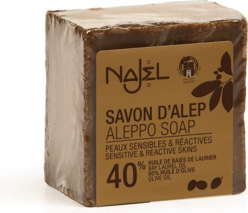 Najel Mydło Aleppo Premium z olejem laurowym 40% Najel 200 g