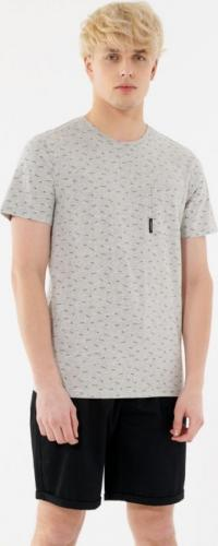 Outhorn T-shirt męski HOL21-TSM638 ciepły jasny szary melanż r. L