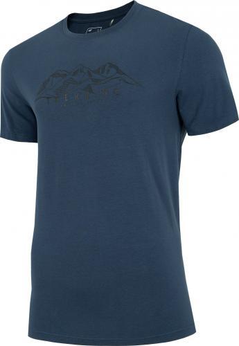 4f T-shirt męski H4L21-TSM062 denim r. L