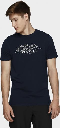 4f T-shirt męski H4L21-TSM062 ciemny granat r. L