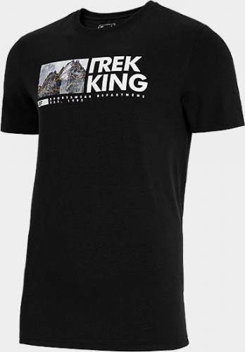 4f T-shirt męski H4L21-TSM060 głęboka czerń r. M