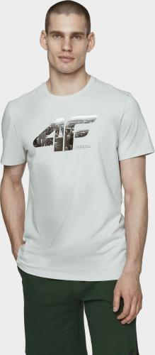 4f T-shirt męski H4L21-TSM024 Chłodny Jasny Szary r. L
