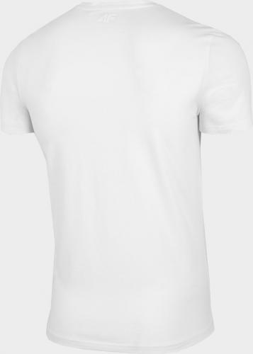 4f T-shirt męski H4L21-TSM024 biały r. XL