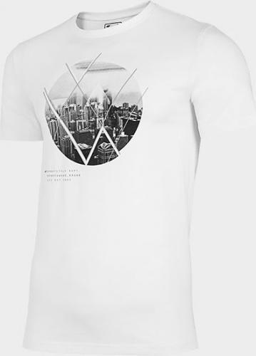 4f T-shirt męski H4L21-TSM023 biały r. XL