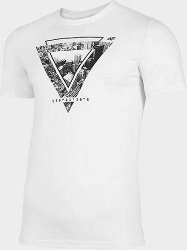 4f T-shirt męski H4L21-TSM022 biały r. XL