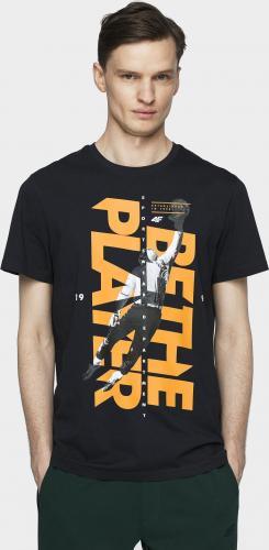 4f T-shirt męski H4L21-TSM012 ciemny granat r. L
