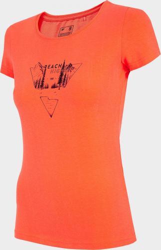 4f T-shirt damski H4L21-TSD061 Łososiowy Neon r. M