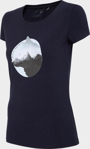 4f T-shirt damski H4L21-TSD060 ciemny granat r. L