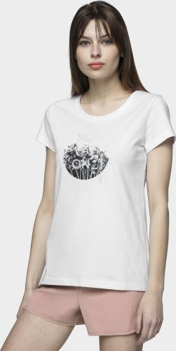4f T-shirt damski H4L21-TSD029 biały r. XL