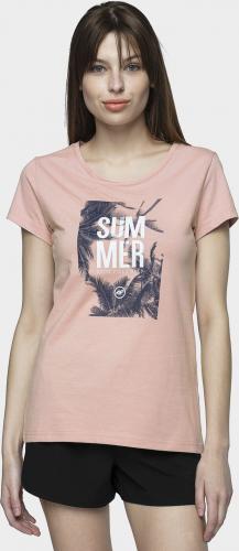 4f T-shirt damski H4L21-TSD025 pudrowy koral r. XL