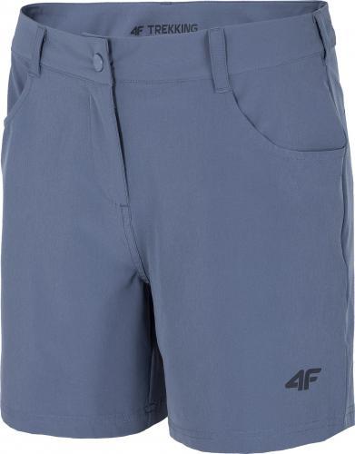 4f Spodenki trekkingowe damskie H4L21-SKDTR060 jasny niebieski r. S