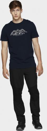 4f Spodnie męskie H4L21-SPMTR062 głęboka czerń r. L