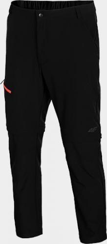 4f Spodnie męskie H4L21-SPMTR061 głęboka czerń r. L