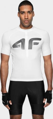 4f Koszulka rowerowa męska H4L21-RKM001 biała r. L
