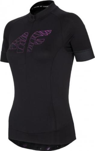 4f Koszulka rowerowa damska H4L21-RKD001 głęboka czerń r. XL