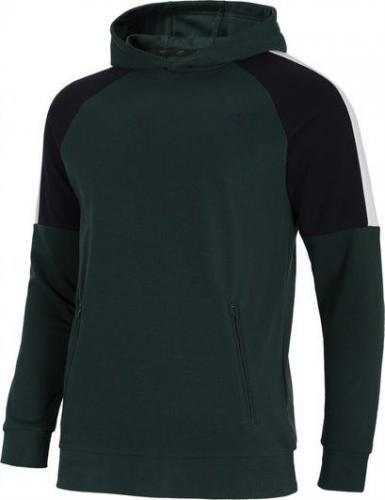 4f Bluza męska H4L21-BLM011 ciemna zieleń r. XL