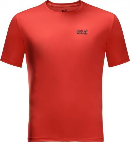 Jack Wolfskin Koszulka męska Tech T M lava red r. L