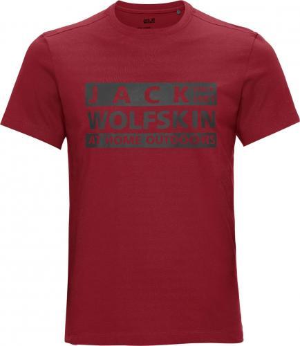 Jack Wolfskin Koszulka męska Brand T M dark lacquer red r. L