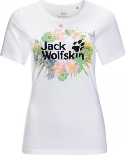 Jack Wolfskin Koszulka damska Pradise Logo T W white rush r. S