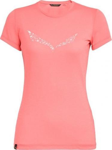 Salewa Koszulka damska Solid Dry W s/s Tee. shell pink melange r. S