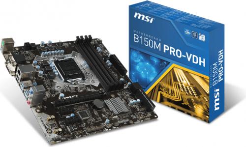 Płyta główna MSI B150M PRO-VDH, B150, DDR4, SATA3, USB 3.1, mATX (B150M PRO-VDH)