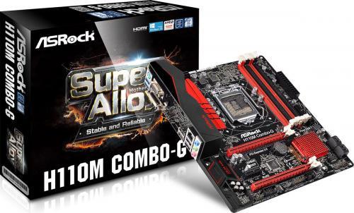 Płyta główna ASRock H110M-COMBO/G, H110, DDR4, SATA3, USB 3.0, mATX