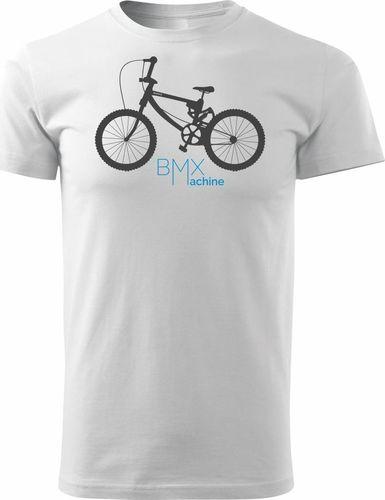 Topslang Koszulka z rowerem BMX męska biała REGULAR XL