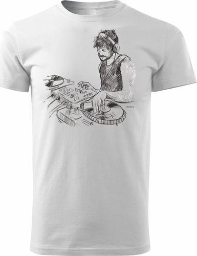Topslang Koszulka z konsolą DJ-em męska biała REGULAR L