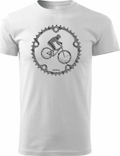 Topslang Koszulka rowerowa Mountain Bike męska biała REGULAR XXL