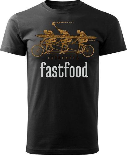 Topslang Koszulka z rowerem FastFood męska czarna REGULAR S