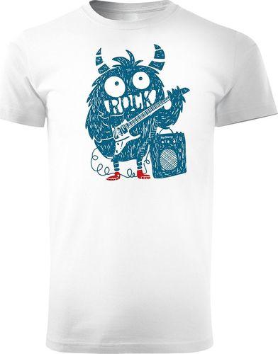 Topslang Koszulka z muzykiem Rock Monster męska biała REGULAR S