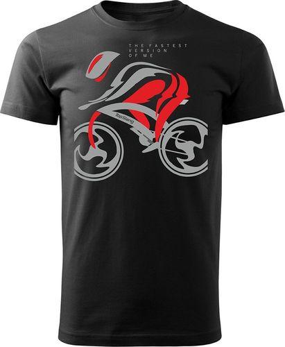 Topslang Koszulka z kolarzem The Fastest męska czarna REGULAR S