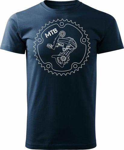 Topslang Koszulka rowerowa z przerzutką męska granatowa REGULAR S