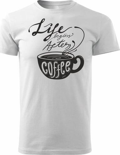 Topslang Koszulka z kawą After Coffee męska biała REGULAR L