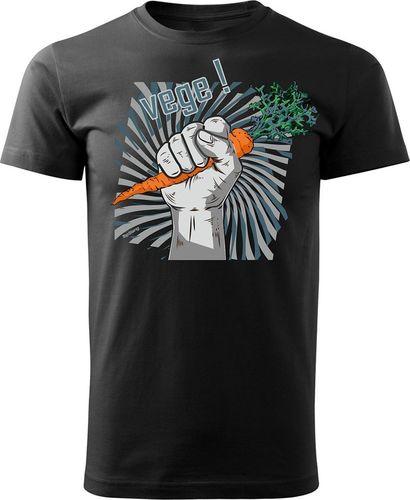 Topslang Koszulka dla wegetarian Vege męska czarna Regular S