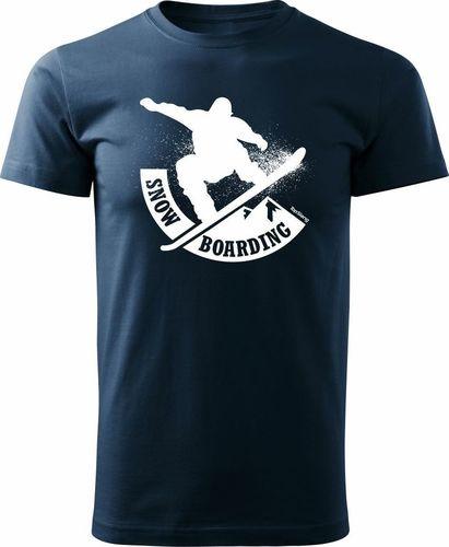 Topslang Koszulka ze snowboardem Snowboard męska granatowa REGULAR S