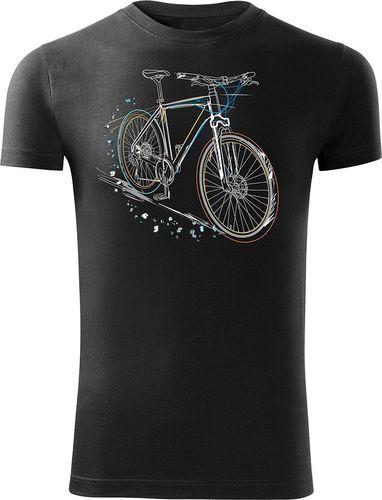 Topslang Koszulka rowerowa MTB Mountain Bike męska czarna SLIM L
