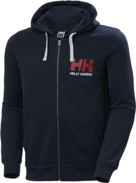 Helly Hansen Bluza męska Logo Full Zip Hoodie Navy r. L (34163_597)