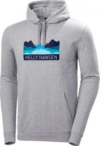 Helly Hansen Bluza męska Nord Graphic Pull Over Hoodie Grey Melange r. M (62975_949)