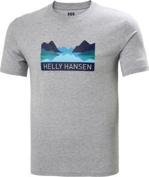 Helly Hansen Koszulka męska Nord Graphic T-shirt Grey Melange r. L (62978_949)