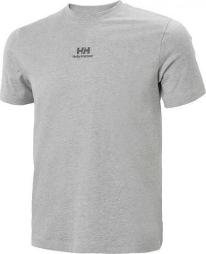 Helly Hansen Koszulka męska YU20 Logo T-shirt Grey Melange r. L (53460_949)