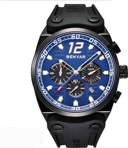 Zegarek BENYAR Canaveral czarny-niebieski (BY5131)