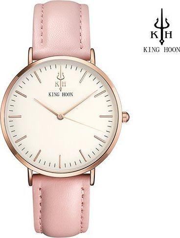 Zegarek King Hoon Star różowy złoty biały (KHSRZB)