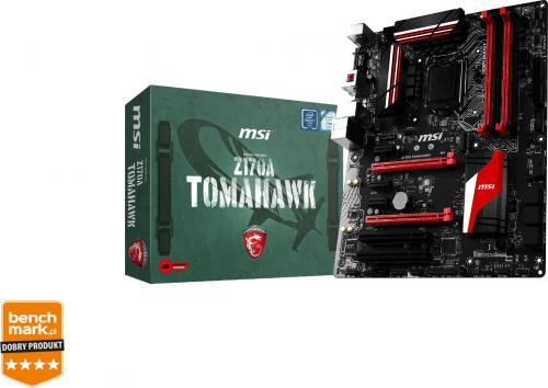 Płyta główna MSI Z170A TOMAHAWK, Z170, DualDDR4-2400, SATA3, RAID, HDMI, DVI, USB 3.1, ATX (Z170A TOMAHAWK)
