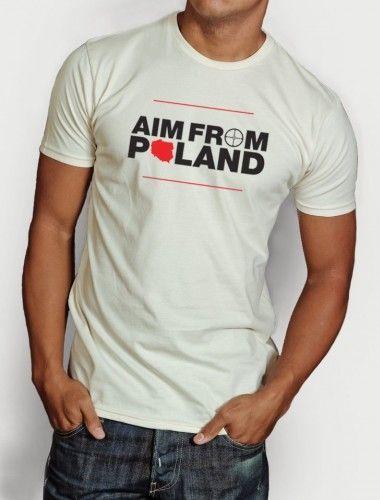 Geekster Koszulka AIM FROM POLAND biała