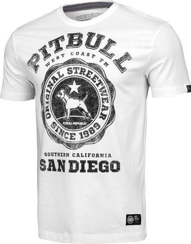 Pit Bull West Coast Koszulka Pit Bull University Logo'20 - Biała M