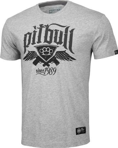 Pit Bull West Coast Koszulka Pit Bull Oldschool Knuckles'20 - Szara M